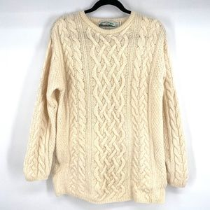 Arancrafts Ireland wool cashmere chunky cable knit